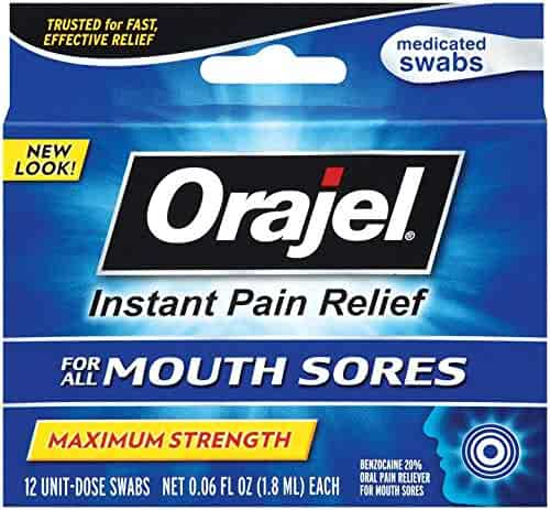 Orajel Mouth Sore Swabs, 12 Count