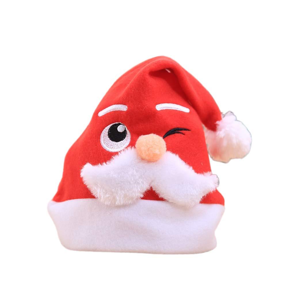 DERKOLY Weihnachten Santa Claus Hut Erwachsene Kinder Art Festival ...