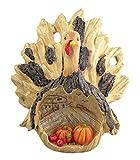 "Roman 9"" Carved Turkey Thanksgiving Harvest Scene Tabletop Figurine Statue"