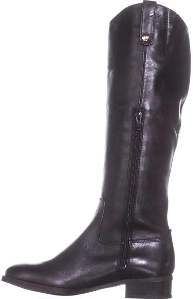 INC International Concepts Womens Fawne Leather Closed Toe Over, Black, Size 5.0