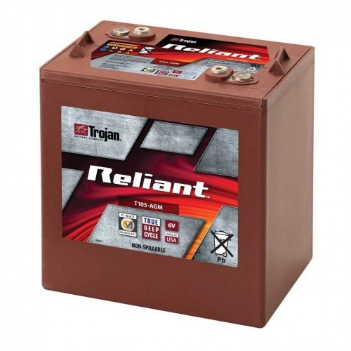 (Trojan Reliant T105-AGM Deep-Cycle Battery)