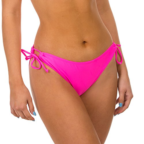 (H2OH Colours Swimwear The Easy to Please Adjustable Tie Neon Pink)