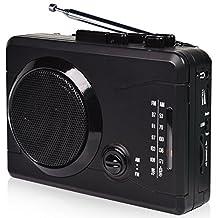 DIGITNOWCassette Tape To MP3 Converter Via USB& Audio to Cassette Recorder,Personal Cassette mp3 Converter,Cassette Player&Voice Recorder-Wireless AM/FM Radio with Stero Speaker in Earphone