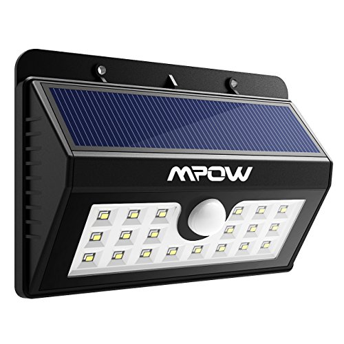 Mpow 20 LED Outdoor Solar Lights, Super Bright Security Lights with Motion Sensor Wireless Waterproof Lighting for Wall, Garden, Patio, Driveway, Path, Deck