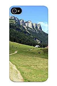 Case For Iphone 4/4s Tpu Phone Case Cover(hiking Trail ) For Thanksgiving Day's Gift