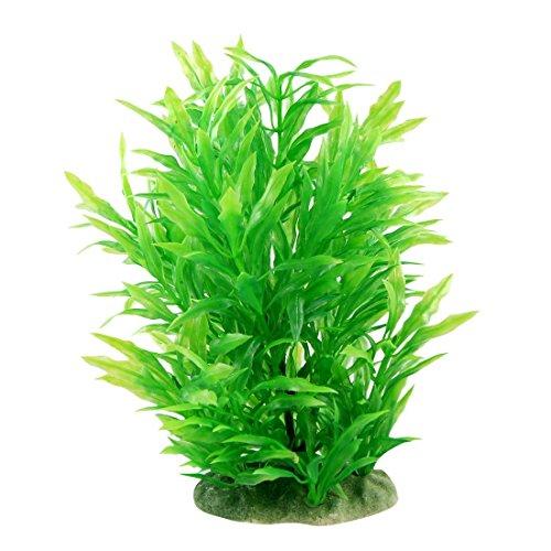CNZ Aquarium Decor Fish Tank Decoration Ornament Artificial Plastic Plant Green (8.9-inch Green) ()