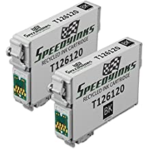 Speedy Inks - 2 Pack Remanufactured Replacement for Epson T126 T1261 T126120 High Capacity Black Pigment Based Ink Cartridge for use in Stylus NX330, Stylus NX430, WorkForce WF-3520