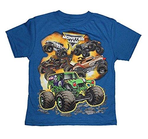 Monster Jam Boys T Shirt 6 16  Sm 6 7