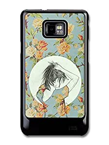 Girl Making a Ponytail Flower Pattern case for Samsung Galaxy S2 by icecream design
