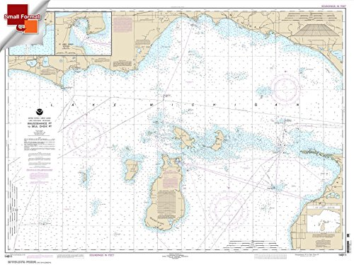 - Paradise Cay Publications NOAA Chart 14911: Waugoshance Point to Seul Choix Point: including Beaver Island Group 21.00 x 28.14 (SMALL FORMAT WATERPROOF)