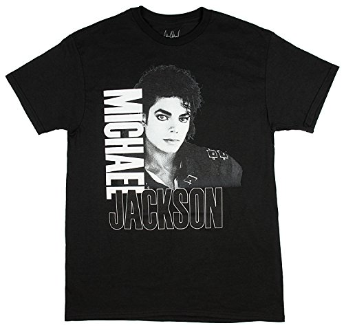 Printed T-shirts Album - Michael Jackson Men's Bad 1988 Tour Adult T-Shirt (Medium)