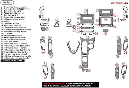 2014 chevy malibu dash trim kit - 6