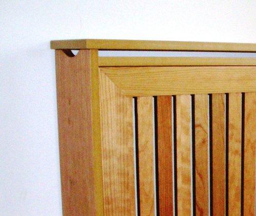 Mueble decorativo cubre radiador, Chapa Natural de Cerezo, 120x83x18cm, fácil montaje en KIT.: Amazon.es: Hogar