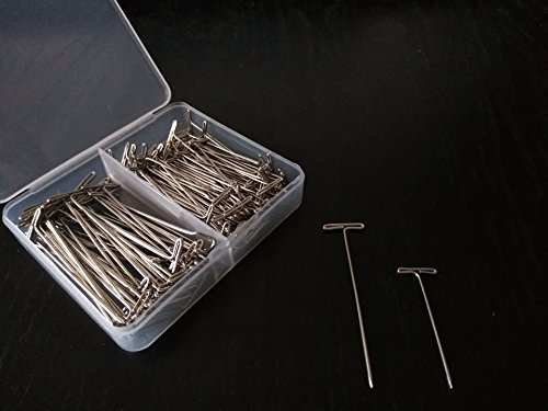 150 Pieces Premium Quality Nickel Plated Dissection Pins, T Pins, Frog Dissection Pins, 100 Pack 1.5 inches and 50 Pack 2.0 inches ()