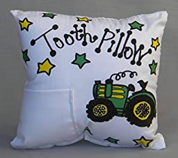Tractor Tooth Fairy Pillow with Tooth Fairy Dust