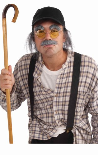 Forum Novelties Grumpy Old Man Instant Costume Kit, Gray