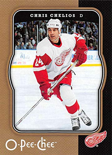 (2007-08 O-Pee-Chee Hockey #175 Chris Chelios Official NHL Trading Card From Upper Deck Detroit Red Wings)