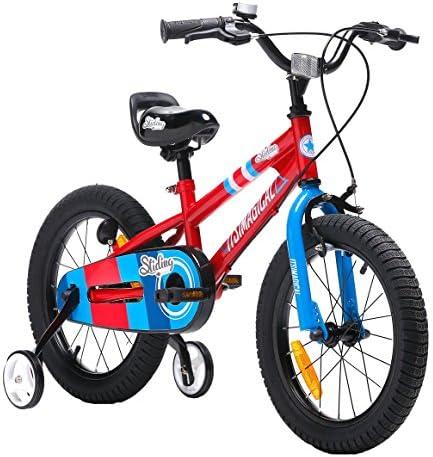 itsImagical - 16 Sport Bike, Bicicleta roja con ruedines 16