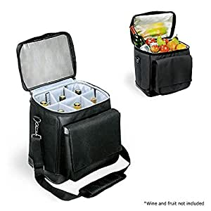 Picnic time portable 6 bottle wine bottle - Amazon porta vino ...