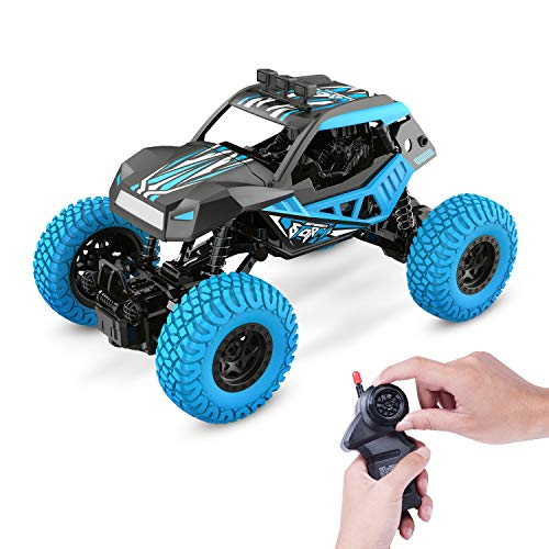DEERC DE32 RC Car Offroad Trucks for Kids 1/20 Scale 2.4GHz Remote Control Racing Monster Trucks with Rechargeable Battery,RC Crawlers,Electric Hobby Toy Cars for Adults Boys & Girls (Girls Monster Trucks Toys)