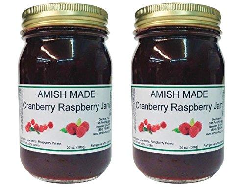 - Amish Jam - Two 18 Oz Jars (Cranberry/Raspberry)