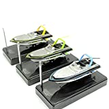 Lanlan 1PCS Radio Remote Control Boats Watercraft RC Speed Racing Boat Electric Boat Dual Motor Toy Gift Pools Lakes Beach Outdoor Sports Play Accessories Random Color