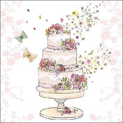 Luxe Serviettes En Papier Gâteau De Mariage Flowerered 33