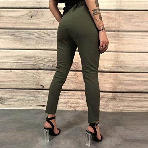 Monocromo Glamorous Slim Inclusa Cintura Carota Semplice HaiDean Fit A Primaverile Di High Pantaloni Treggins Moda Waist Tendenza Matita Armeegr Pantaloni Donna Estivi Eleganti Lunga OwqZBa