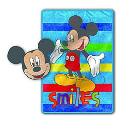 Mouse Mickey Blanket (Nogginz Pillow & Plush Blanket Set Disney Mickey Mouse)