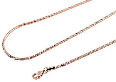 5 cm Akzent Damen Halskette Edelstahl Schlangenkette Silberfarbig 40 cm