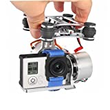 Assembled RTF Brushless Camera Mount Gimbal with Motor Controller for Gopro Hero3 on DJI Phantom F450 F550 X 525 Walkera QR X350 quadcopter