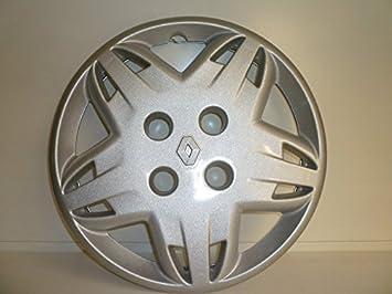 Juego de tapacubos 4 tapacubos diseño Renault Clio (I serie) desde 1999 o r 14 r 13: Amazon.es: Coche y moto