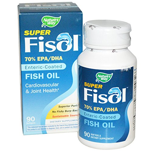 Nature's Way - Super Fisol, Enteric-Coated Fish Oil, 90 Softgels