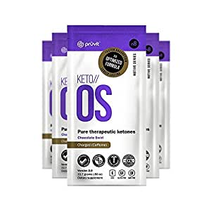 KETO//OS 3.0 Chocolate Swirl CHARGED, Provides Sharp Energy Boost, Promotes Weight Loss and Burn Fats through Ketosis, 5 Sachets