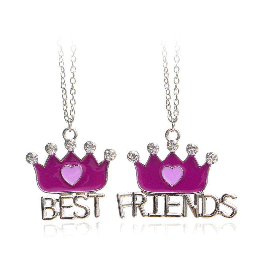 ZHUXINHAO Crown Necklace for Women Best Friend Necklace Crown Pendant Necklace Jewelry Gifts Necklace for Mom Women