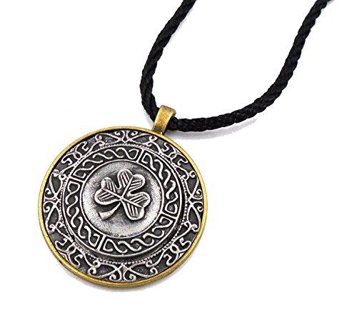 Irish Mullingar Pewter: Shamrock Pendant Necklace