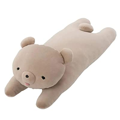 Craftholic MOCHIKUMA Bear Soft Plush Hugging Cushion Size Large (Beige): Home & Kitchen