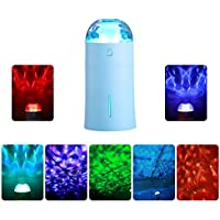 Pavlit Cool Mist Humidifier with Colorful Projector Lamp, Multifunctional Ultrasonic USB Portable Air Humidifiers Purifier for Cars Office Desk Home Babies kids Bedroom No Noise 2018 NEW