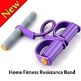 SAYGOGO Pedal Resistance Band Elastic Pull Rope Fitness Equipment,Bodybuilding Expander for Abdomen/Waist/Arm/Leg Stretching Slimming Training