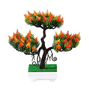 Zconmotarich 1Pc Artificial Lily Flower Pine Tree Miniascape Party Home Desk Bonsai Decor 8# 1