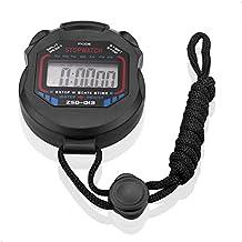 SIENOC Digital Professional Handheld LCD Chronograph Sports Stopwatch Timer Stop Watch
