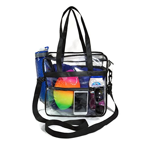 72af8cd4a1f4 Jual EliteBags Deluxe Clear Tote Bag w Zipper and Shoulder Straps ...