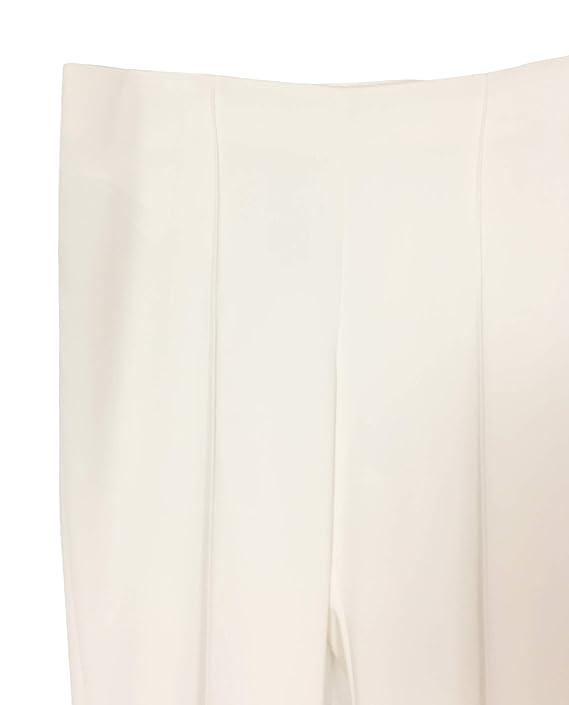 e04c2761e6 Amazon.com  MANGO Women Pleated Suit Pants 41020754 White  Clothing