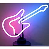 Neon Lamp Light Rock and Roll Guitar Blue/purple/pink 13.5""
