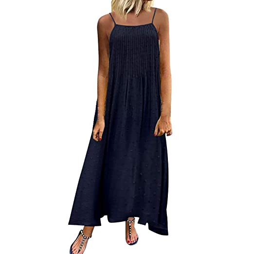 Plus Size Maxi Dress, Women Vintage Solid Maxi Dresses ...