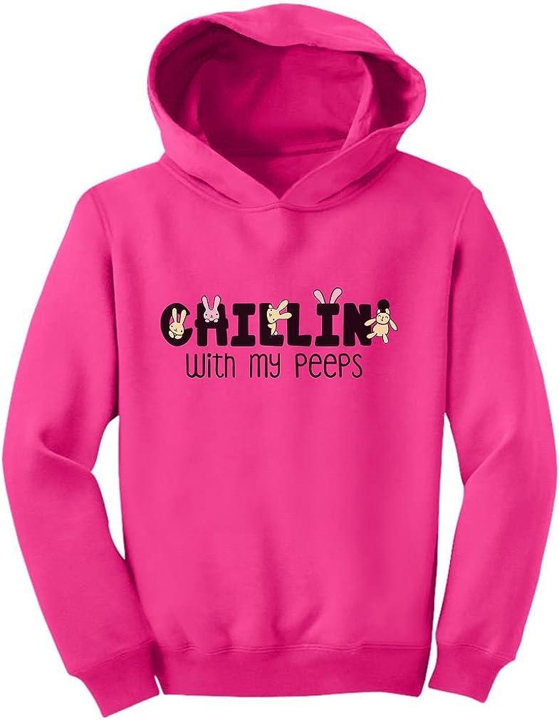 Happy Easter Chillin My Peeps Easter Toddler//Kids Sweatshirt Tstars