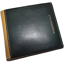 Mandarina Duck Mens Italian Leather Bifold 8 Pocket Money Clip Wallet Sycamore