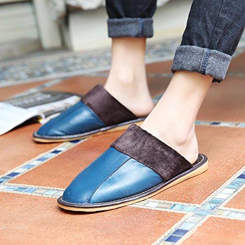 Soggiorno fankou Autunno Inverno cotone pantofole indoor uomini e donne coppie home pavimenti in legno caldo e pantofole inverno gancio ,37-38, Viola