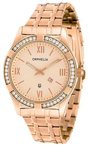 Orphelia Women's Quartz Analogue Watch Stainless Steel Strap Golden And Pink