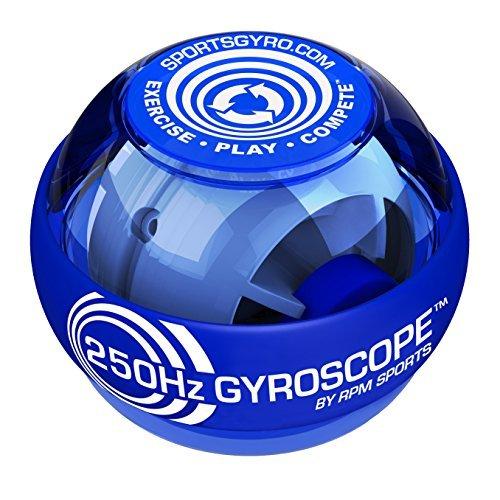 Powerball Classic Gyroscopic Hand Grip Exerciser Ball,Blue.250HZ